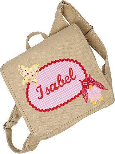 crepes suzette Kindergartentasche, Kindergartenrucksack, Tasche mit Namen, Kindergartentasche mit Namen, Namenstasche, Eulentasche, Kindergartentasche mit Eule
