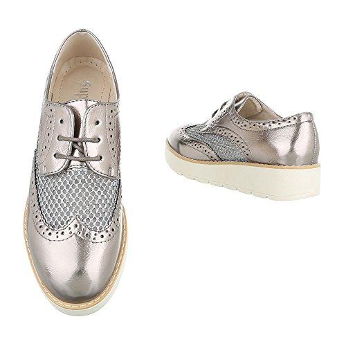 Bronze Schnürer Lace Sapatos 62015 design ital Oxford Baixos Senhoras Sapatos H8WSRUZnnx
