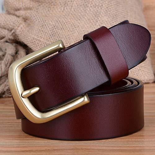 Luziang Men Belt Casual Brass Buckle Belt, Friend
