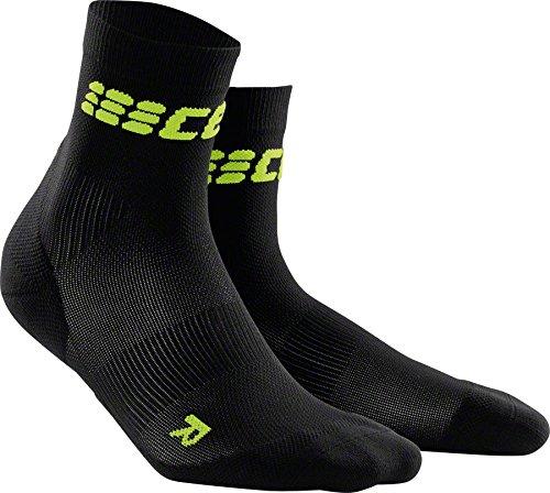 CEP Damen Kompressionsbekleidung Ultralight Short Socks, schwarz, 4
