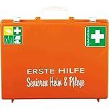 SÖHNGEN Erste-Hilfe-Koffer Senioren Heim & Pflege, Orange, ASR A4.3/Din 13157, mit PRÜFPLAKETTE