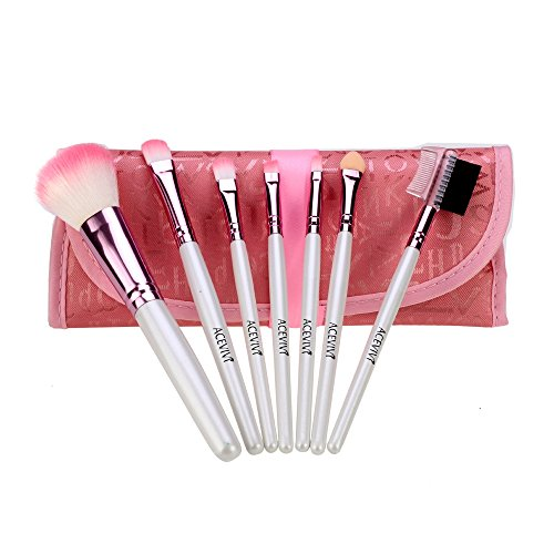 ACEVIVI Stilvolle Nette 7 Stücke Puderpinsel Set kosmetische Bürsten Pinsel Make-up Set...