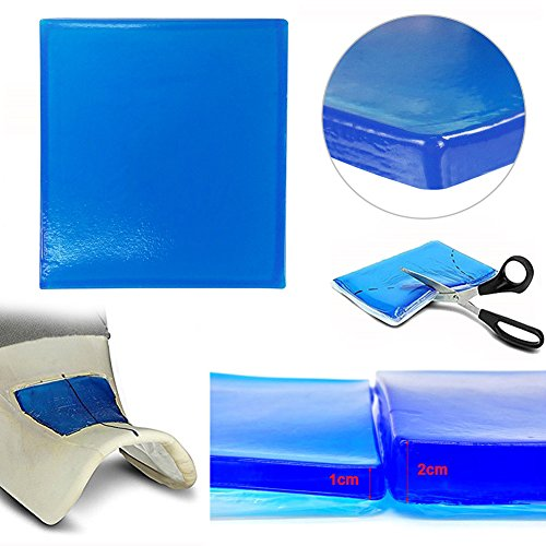 Broadroot Motorrad Sitz Gel Pad Dämpfung Matte Komfortable Weiche Kissen Blau (25x25x2cm)