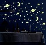 #8: Indian Royals 'Radium Galaxy Of Stars' Glow In Dark Wall Sticker (Pvc Vinyl, 21 Cm X 29.7 Cm, Night Glow Stickers)