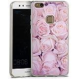 Huawei P 10 lite Hülle Silikon Case Schutz Cover Rosen Blumen Liebe