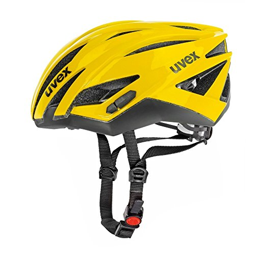 Uvex Ultrasonic Race - Casco de ciclismo YELLOW/BLA Talla:52-56CM