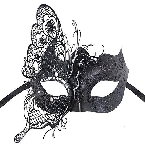Geheimnisvolle venezianische Schmetterlings-glänzende Schmetterlings-Dame Masquerade Halloween-Karneval-Party-Maske