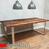 dasmöbelwerk Tisch Massiv Recycling Holz Antik Look Esstisch Esszimmertisch Massivholz 220 cm AF2040