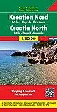 Freytag Berndt Autokarten, Kroatien Nord - Istrien - Zagreb - Slawonien, Maßstab 1:200 000