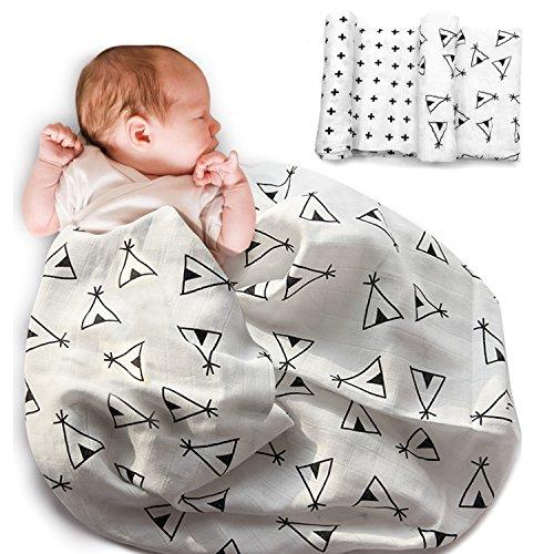 Mture Copertine unisex per bambini, Super Soft Copertina design di lusso, traspirante morbido cotone, ideale come regalo 100x 120 cm - confezione da 2