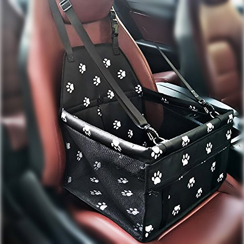 Haustier Hund Autositz Booster Carrier Protector Tasche Cage Cover Systond Wasserdicht Deluxe Portable Dog Booster Reise Carrier Cover Seat Protector mit Clip-On Sicherheit Lesh und Extra Support Rods (Carrier Rod)