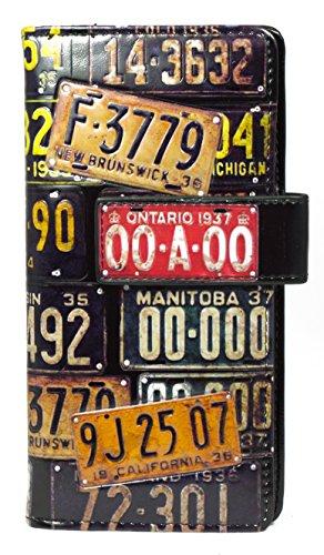 Shagwear portafoglio per giovani donne , Large Purse : Diversi colori e design: targa vintage / Vintage License Plate