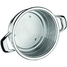 Warmcook 2030.20 - Recipiente para cocinar al vapor (acero inoxidable 18/10, 20 cm ), con asas