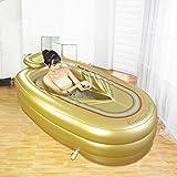 Aufblasbare Badewanne Thicker Adult Tub Tubing Kunststoff Badewanne (Gold)