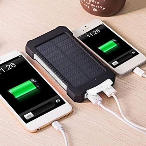 Dailyinshop Cargador batería Solar portátil Dual