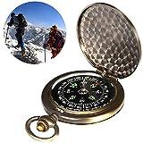 BETOY Bussola Portatile, Bussola Vintage da Tasca Portatile in Ottone per Campeggio Escursionismo Navigatore Esterno