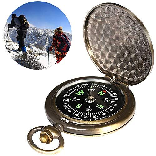 BETOY Kompass Outdoor, Portable Messing kompass Klassischer Sprungdeckel Wasserdichter Marschkompass Taschenuhr Flip-Open Navigation Tools für Camping Wandern