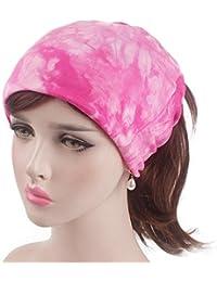 a86ece82025 Dinglong Grosses Soldes Nouveau Style Tie Dye Arc En Forme De Fleur Cap  Musulman Coton Paisley Femmes Beanie Chapeaux Pour Femmes…