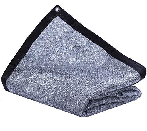 JTsuncover - Aluminium 85% - strapazierfähiger Sonnenschutz aus Netzstoff für Sonnenschutz - mit Ösen - 10ft x 10ft Aluminet