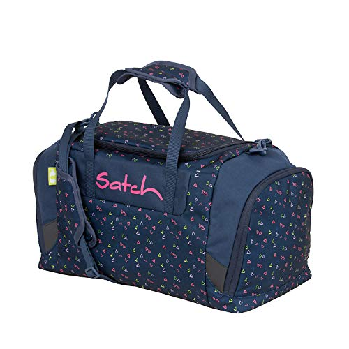 SATCH Duffle Kinder-Sporttasche, 50 cm, 25 Liter, Small Triangles Blue Pink Yellow