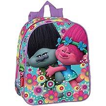 Trolls Cooper - Mochila guardería 28x24x10cm Poppy y Ramón