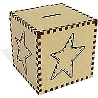 Preisvergleich für Azeeda Groß 'Genähter Stern' Sparbüchse / Spardose (MB00061646)