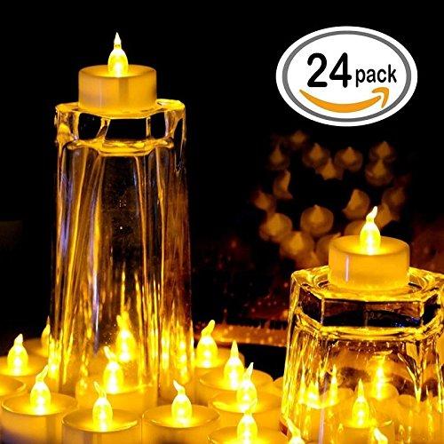 LED Teelichter inkl. Batterie | 24 Stück - 3