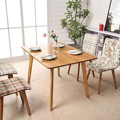 ANDIAOG-Home Nordic Esstisch und Stuhl Kombination Massivholz Langen Tisch einfache rechteckige 6 Personen Esstisch nach Hause (Size : 120 * 60 * 70CM) -
