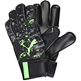 PUMA Unisex's FUTURE Grip 19.4 Goalkeeper Gloves, Black-Charcoal Gray-Green Gecko, 11