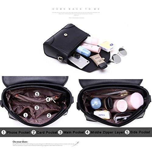 Borsa da viaggio con borsa a tracolla Womens Messenger Bag Borsa e portafogli da donna Borsa portafogli da donna - Rosso Marrone