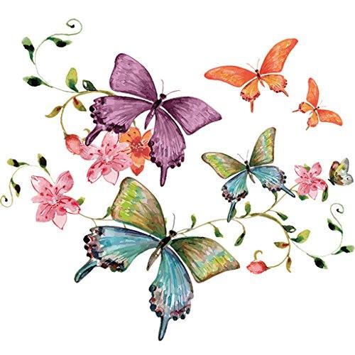 Logres Aufnäher Bügelbild Schmetterling, 2Stück, für Kinder, mit a-level, zum Aufbügeln, Motiv, Applikationen