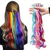 TESS Clip in Extensions wie Echthaar Haarteile 10 Pcs 10 Clips DIY Haarverlängerung günstig Gewellt Haarverdichtung 22