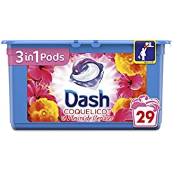 Dash 2en1 Dash3en1 Lessive en Capsules Coquelicot/Fleurs de Cerisier 29 Lavages