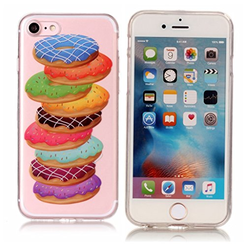 """Coque pour iPhone 7 / iPhone 8 , IJIA Transparent Hibou TPU Doux Silicone Bumper Case Cover Shell Housse Etui pour Apple iPhone 7 / iPhone 8 (4.7"""") XS72"""