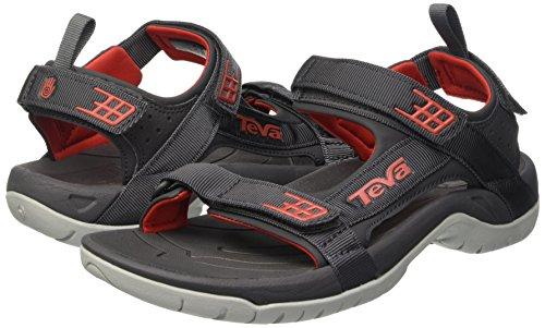 Teva Tanza, Herren outdoor-sandalen, Mehrfarbig (Dark Shadow/Red Dswr), 44.5 EU -
