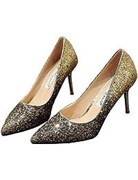 Amazon.it: Oro nero Scarpe col tacco Scarpe da donna
