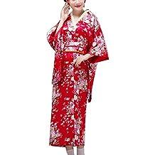 Fancy Pumpkin [Sakura] Albornoz Kimono Yukata de Estilo japonés para Cosplay, ...