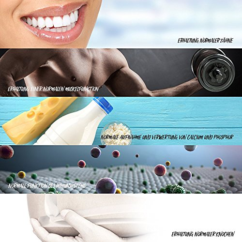 Vitamin D-Depot 5.600 I.E. Wochendosis - 800 I.E. pro Tag - 120 vegane Tabletten - 3