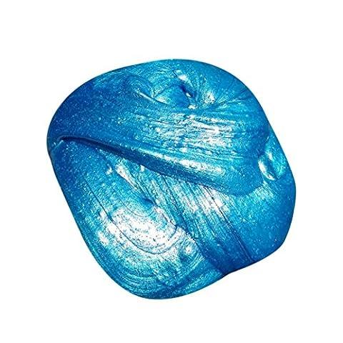 Winkey 1 PC Kids Fluffy Floam Slime Putty Durtend 60ml Scented Stress Relief Kids Clay Toy (Blue)