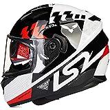 CHB Outdoor Riding Helmet Street Bike Racing Collision Helm Doppel Lens Motorrad-Helm Locomotive Racing Full Helm mit Airbag-socken,002,L