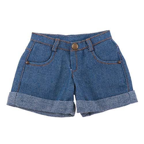 Unbekannt Denim Blau Cuffed Shorts Kleidung Für 1/3 Bjd Ball Verbunden Puppe Lässige Outfit - Denim Blue - Cuffed Jean Shorts