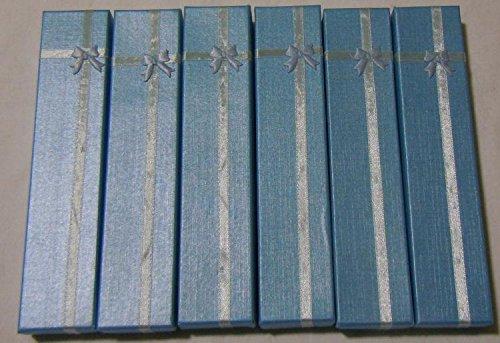 12 scatoline RETTANGOLARI bracciali collane CELESTE E braccialetti (Rettangolare Bracciali)