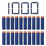 FHD 1000 Stück Nerf Refill Kugel Kompatibel Bullet Darts Soft Tip Blasters Kid Spielzeugpistole für Nerf Spielzeug Gun N-Strike Elite Serie 50/100/200/300/400/500/600/1000 Pack Blau (1000 Pcs)
