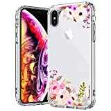 MOSNOVO Coque iPhone XS/Coque iPhone X, Floral Flower Blossom Fleur Clair Design...