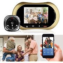 Videocitofono - Campanello videocitofonico wireless intelligente - Telecamera di sicurezza HD con memoria di archiviazione 8G, controllo app - Rilevazione movimento PIR - Talk e video bidirezionale in tempo reale - Visione notturna, per IOS e Android
