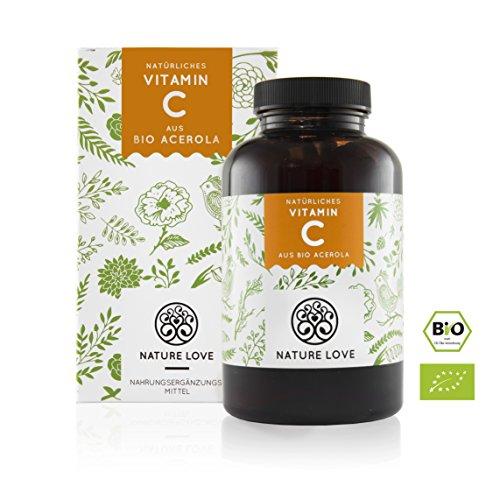Natürliches Vitamin C in Bio Qualität. 180 Kapseln im 3 Monatsvorrat. Aus Bio Acerola Extrakt, reich an natürlichen Bioflavonoiden und hoch bioverfügbar. Laborgeprüft, vegan und hergestellt in Deutschland