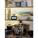 Xavax Digitales Kühlschrankthermometer (Kombihalterung zum Aufstellen, Hängen oder magnetischen Anhängen im Kühlschrank, Gefrierschrank, Tiefkühltruhe, min. -30 Grad, max. +70 Grad) Gefrierschrankthermometer schwarz -
