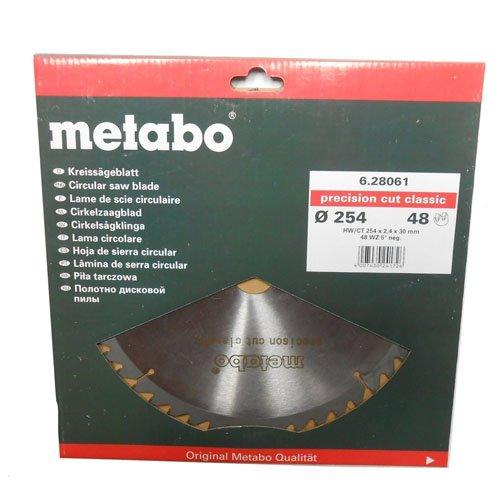 Preisvergleich Produktbild Metabo 628061000 Kreissägeblatt HW/CT 254x30, 48 WZ 5°neg