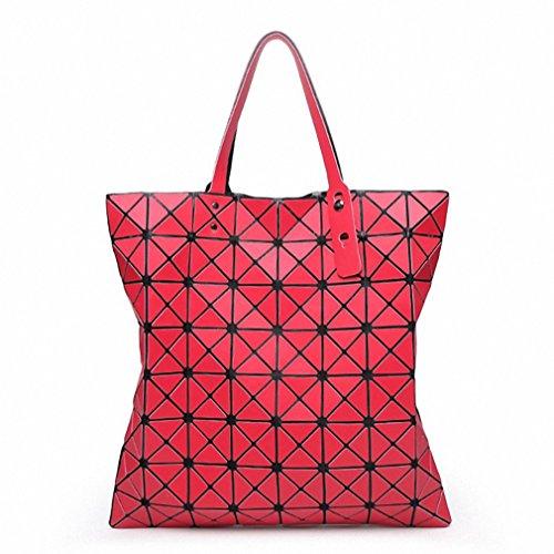 Finitura opaca di ripiegamento del sacco Borsetta donna Borse Moda casual Tote Moda Donna Tote Silver Large Red