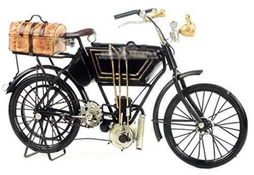 ZXWDIAN Automodell Spielzeugauto Crafts 1903 Adler Motorcycle | Limitierte Kollektion Edles handgemachtes Geschenk | Schwarz Autos Fahrzeuge Spielzeug (Vintage Motorrad-reifen 18)